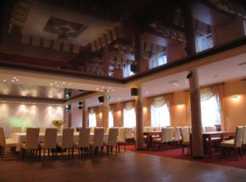 Натяжные потолки в кафе